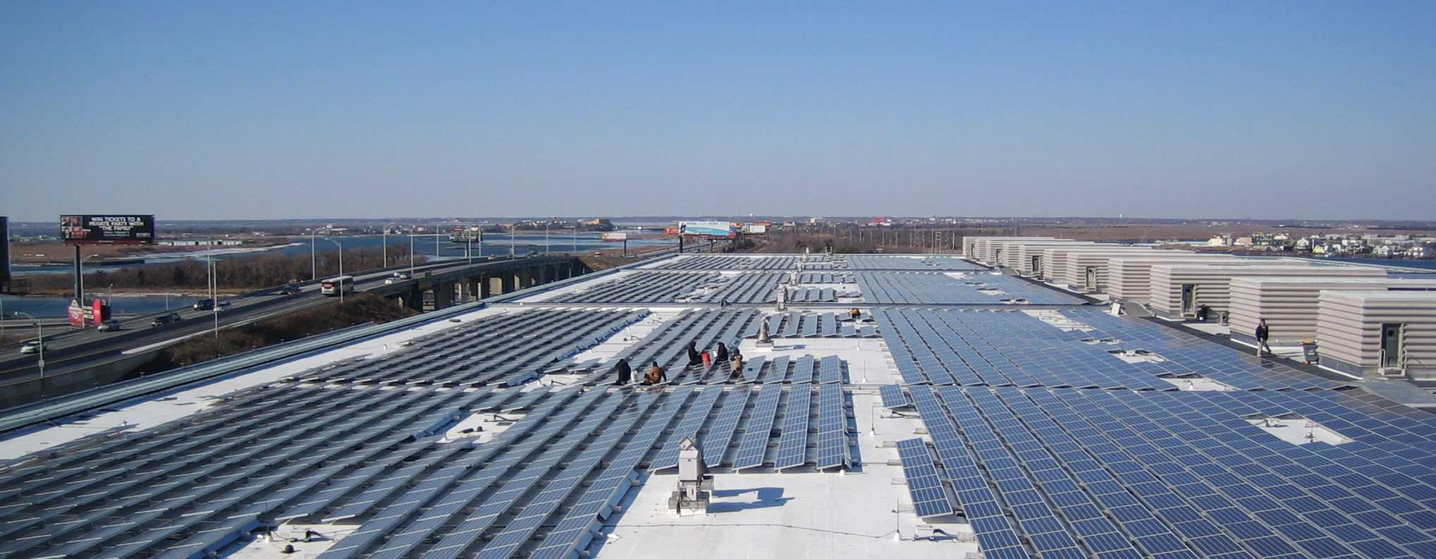 complete commercial solar install
