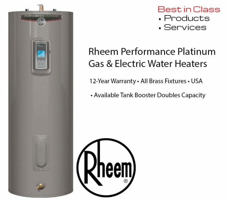 rheem performance gas and electric water heater